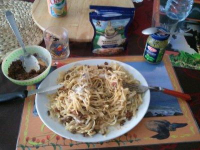 Mon plat préféré : les spaghettis ( linguine ) comme je les aime