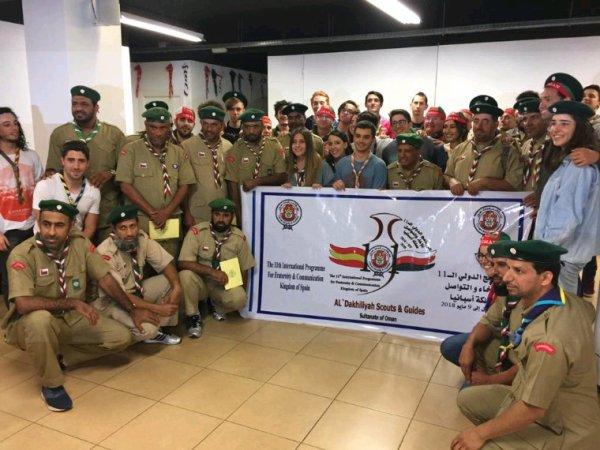 Expo Scout - Museo, visita de Scouts de Omán (08/05/2018)