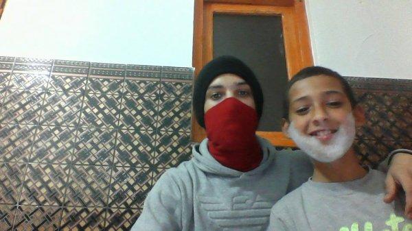 Avec mon petit frère Larbi