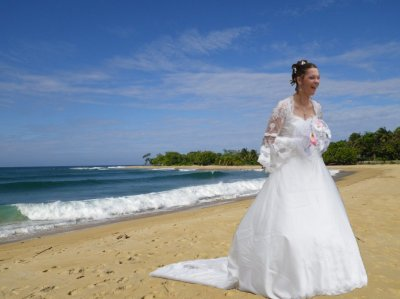 encore marraine en robe de marier