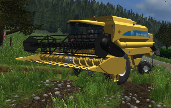 Moisson avec la New Holland TX 65