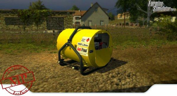 Mod FS 2013: Cuve à gazoil fuelproof 3 points..
