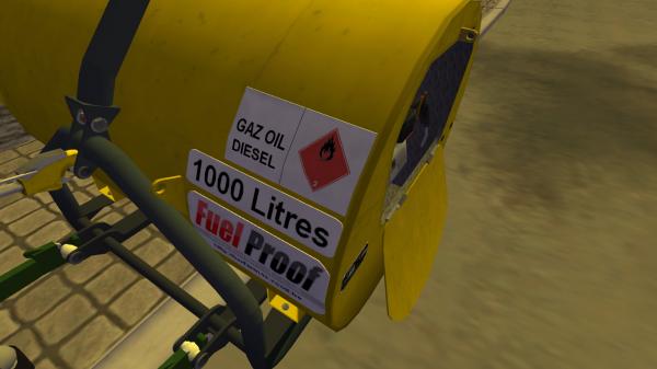 Achat d'une Cuve à gazoil fuelproof 3 points