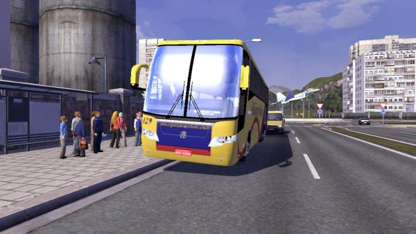 Un peu d'Euro Truck Simulator 2 avec un mod...