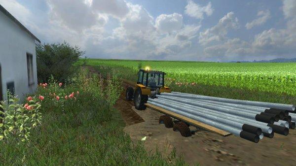 Mod FS 2013 : Remorque avec tuyaux d'irrigations