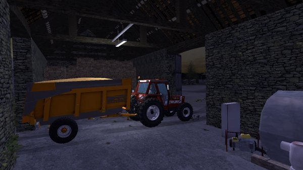 Le Fiat-Agri et la Dezeure à la grange...