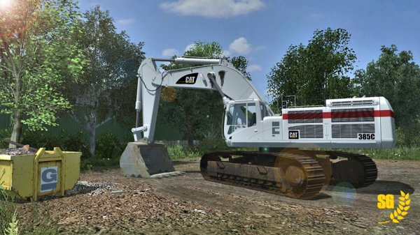 La Caterpillar 385 au repos... // !! NO LINK !! \