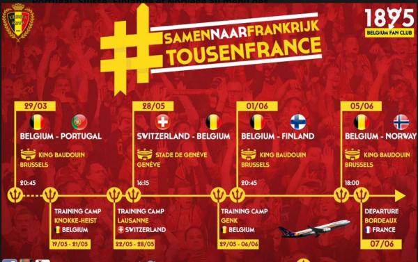 Portugal, Suisse, Finlande et Norvège au menu des Diables avant l'Euro