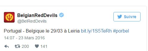 Les Diables joueront finalement contre le Portugal à Leiria