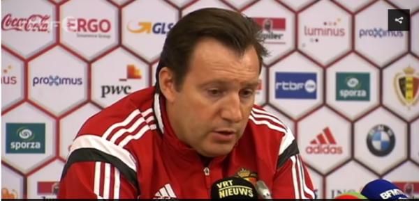 """Le patriote Wilmots voulait jouer en Belgique, """"contre la peur"""""""