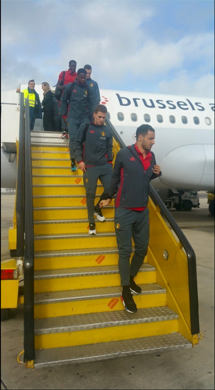Les Diables Rouges sont arrivés à Lisbonne