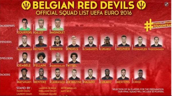 Officiel: Wilmots donnent 24 nom pour l'Euro 2016