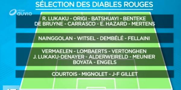 24 Diables sélectionnés parmi lesquels 9 défenseurs, Benteke, Origi et Batshuayi