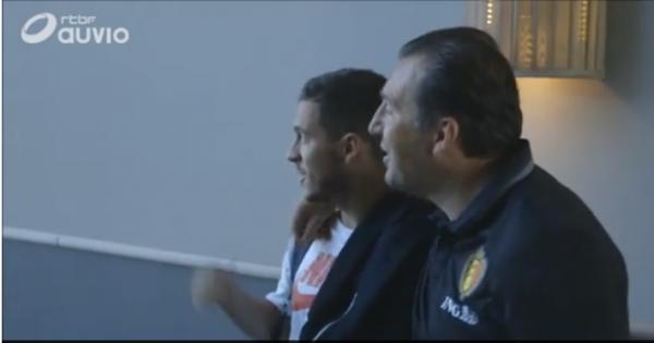 """Wilmots chambre Hazard: """"De dernier à l'entrainement à capitaine en 4 ans"""""""