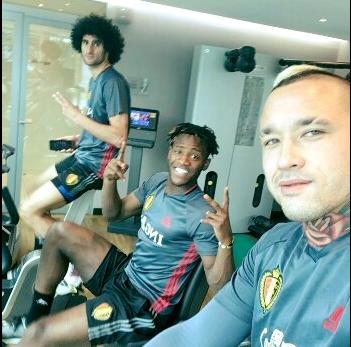 Fellaini, Nainggolan et Batshuayi au fitness