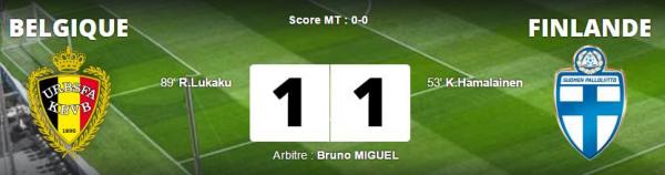 Belgique - Finlande 1-1