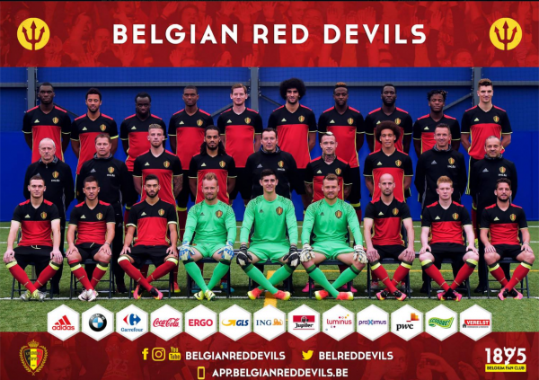 les diables rouge ont posé pour la traditionnel photo uefa Euro 2016