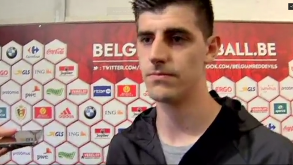 "Thibaut Courtois: ""On prend souvent des buts en amical mais pas en match officiel"""