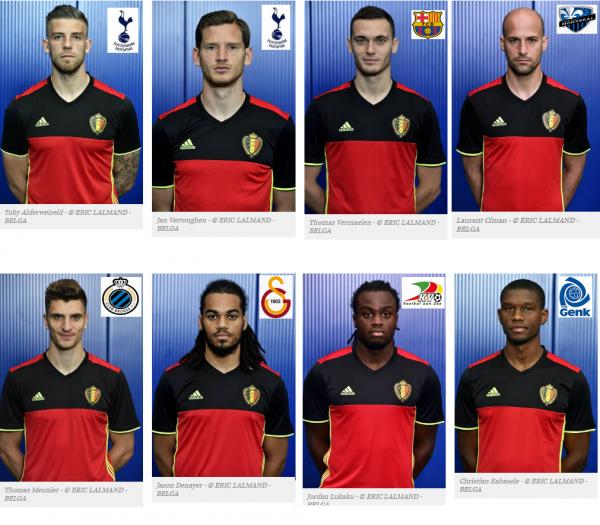 Les 23 diables rouges de l'Euro 2016