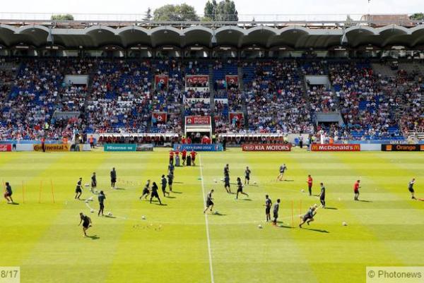 Les Diables se sont entraînés devant 10.000 au Stade Chaban-Delmas, l'ancien stade des Girondins de Bordeaux