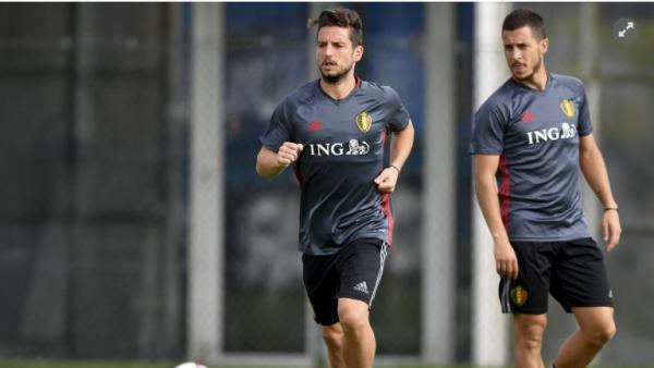 """Eden Hazard a arrêté l'entraînement après un coup sur le pied, """"rien de sérieux"""""""
