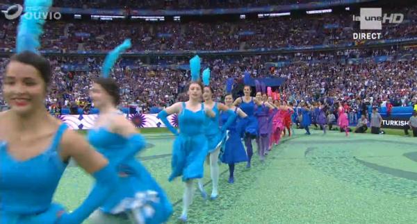 cérémonie d ouverture de l'Euro 2016 au Stade de France
