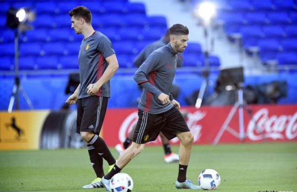 Dernier entrainement des diable avent Belgique - Italie au Stade Gerland de Lyon