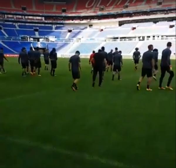 Dernier entrainement des diables avent Belgique - Italie au Stade Gerland de Lyon