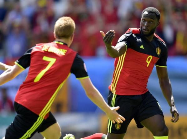 Lukaku, premier joueur belge à mettre un doublé dans un Euro