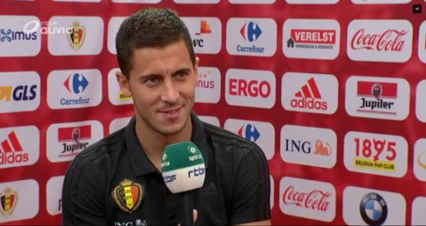 """Hazard rassurant sur sa blessure: """"On joue avec les pieds, pas avec les mains!"""""""
