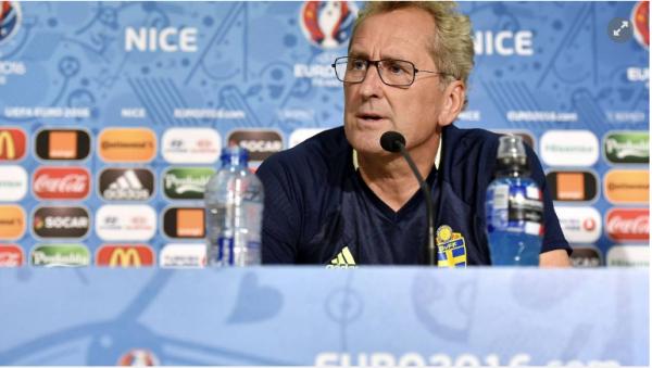 """Le sélectionneur suédois Hamren: """"Un grand défi face à la Belgique"""""""