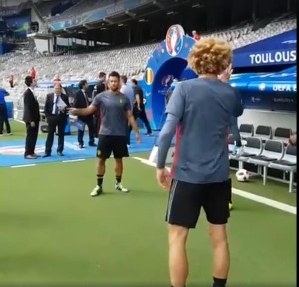 Entrainement des diables rouges au Stadium de Toulouse