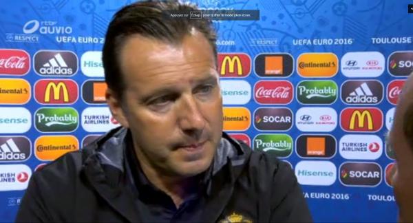 """Wilmots: """" Dembélé n'est pas encore apte, on jouera peut-être avec 2 attaquants"""""""