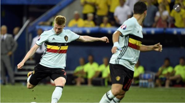 De Bruyne et Hazard sur le podium des joueurs les plus en forme dans cet Euro
