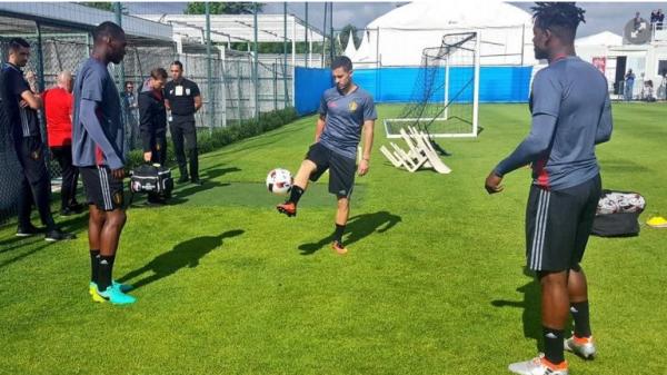 Eden Hazard a repris l'entraînement ce jeudi