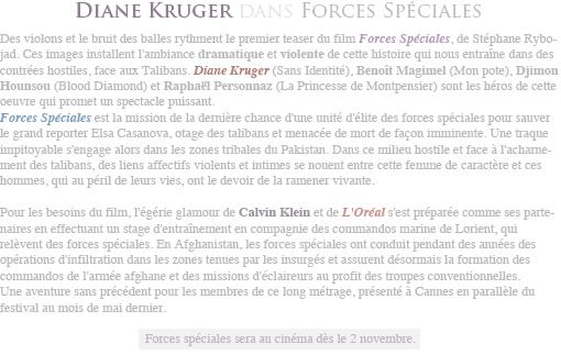 ♥ Keira Knightley // Photoshoot pour Flaunt. Diane Kruger // À Paris +Teaser Forces Spéciales