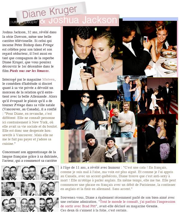 Diane Kruger ♥ Joshua Jackson parle de Diane + avant première Pieds Nus sur les Limaces !