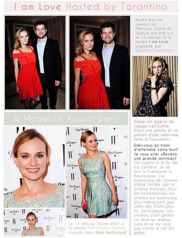 Diane Kruger ♥ I Am Love by Tarantino, Jaeger-LeCoultre & Pré Golden Globes Party