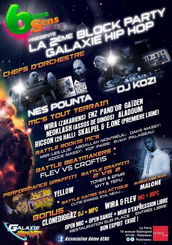 NEOKLASH Block Party GALAXIE HIP HOP 1er Juillet 2012