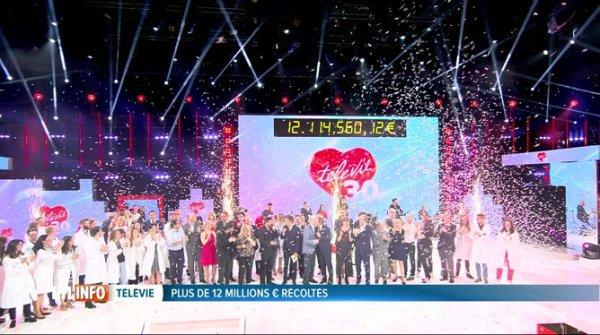 ouveau record pour le Télévie: 12.114.560 euros, merci pour votre générosité