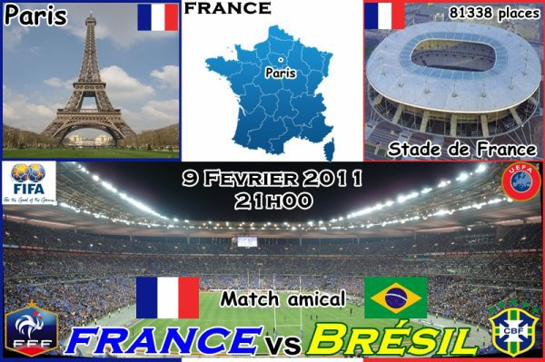MERCREDI 9 FEVRIER  FRANCE / BRESIL