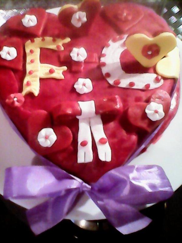 recette gateaux coeur saint valentin coeur fondant au chocolat pate a sucre bonbons pour mon homme