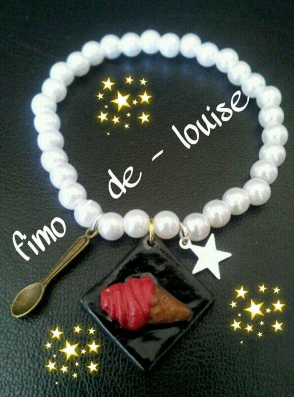 bracelet petit beure et glace fraise