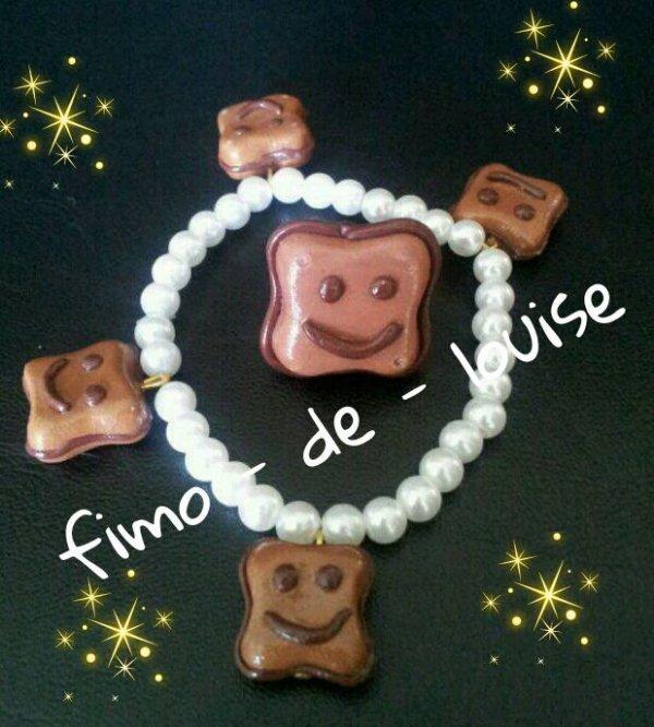 bracelet  et bague BN  chocolat