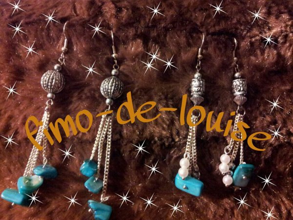chaine perle turquoise