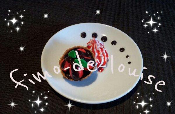 tarte fraise colis chocolat !!!