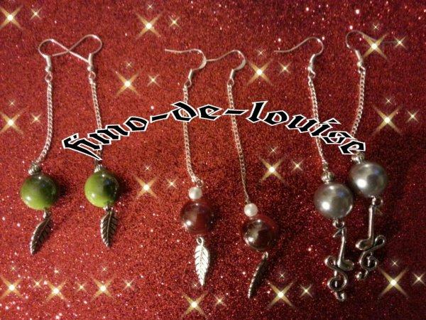 Perles au reflets colorés