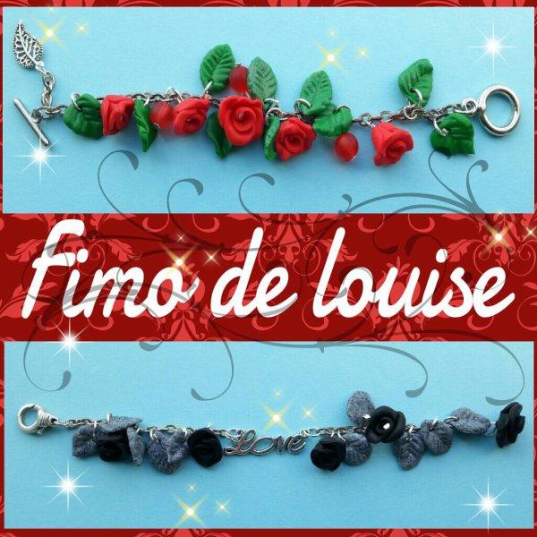 Bracelets fleurs roses
