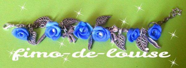Bracelet Rose Bleu