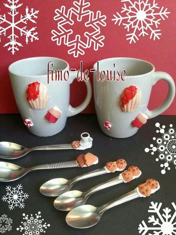 Tasses  et gourmandise pour Noël